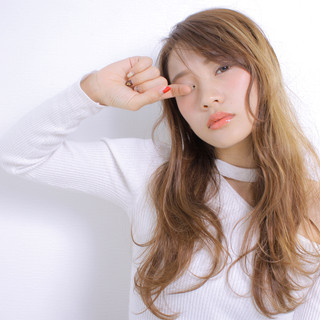 モテ髪 デート ロング ゆるナチュラル ヘアスタイルや髪型の写真・画像