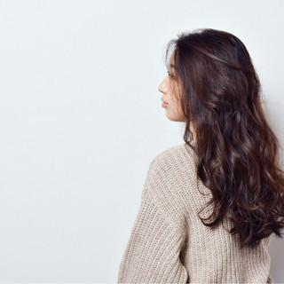 おフェロ ナチュラル ロング グラデーションカラー ヘアスタイルや髪型の写真・画像
