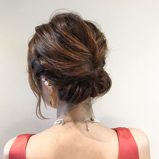 ボブ 結婚式 上品 ヘアアレンジ ヘアスタイルや髪型の写真・画像
