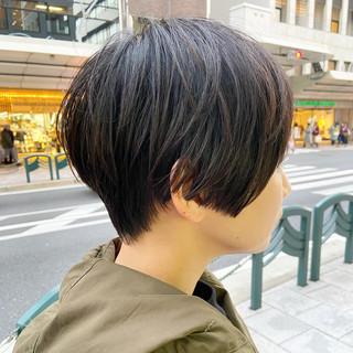 大人可愛い ナチュラル ミニボブ 小顔ショート ヘアスタイルや髪型の写真・画像