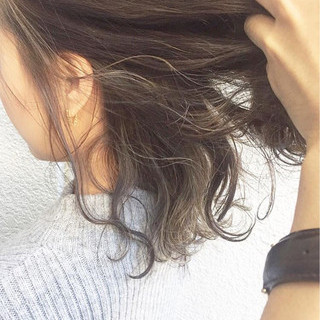 ハイライト ブラウン 大人かわいい グラデーションカラー ヘアスタイルや髪型の写真・画像