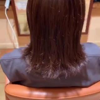 秋ブラウン ラベンダーカラー ラベンダー ナチュラル ヘアスタイルや髪型の写真・画像