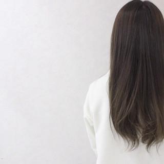 グラデーションカラー アッシュ ナチュラル ハイライト ヘアスタイルや髪型の写真・画像