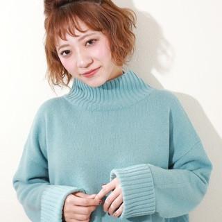ヘアアレンジ デート ショート ガーリー ヘアスタイルや髪型の写真・画像