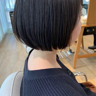 ベリーショート ショートヘア 切りっぱなしボブ ショートボブ ヘアスタイルや髪型の写真・画像