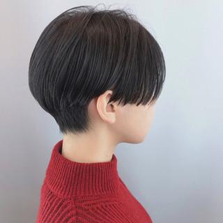モード クール おしゃれ 黒髪ショート ヘアスタイルや髪型の写真・画像