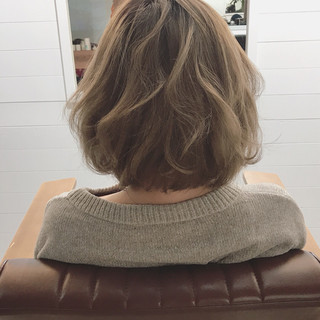 冬 デート ボブ ゆるふわ ヘアスタイルや髪型の写真・画像