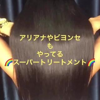 簡単ヘアアレンジ ナチュラル トリートメント ストレート ヘアスタイルや髪型の写真・画像 ヘアスタイルや髪型の写真・画像
