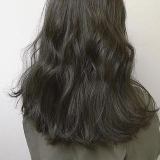秋 グラデーションカラー アッシュ 透明感 ヘアスタイルや髪型の写真・画像