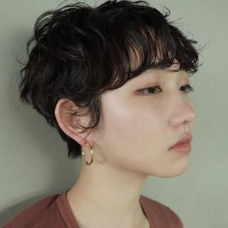 パーマ 前髪あり くせ毛風 ベリーショート ヘアスタイルや髪型の写真・画像 ヘアスタイルや髪型の写真・画像
