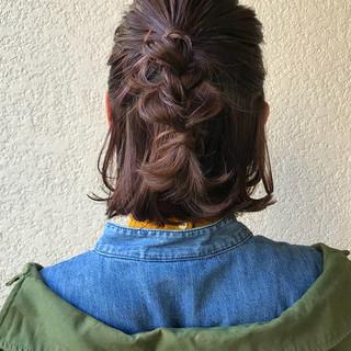 ストリート ヘアアレンジ 簡単ヘアアレンジ アンニュイほつれヘア ヘアスタイルや髪型の写真・画像