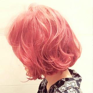 ラベンダーピンク ストリート ハイライト ピンク ヘアスタイルや髪型の写真・画像