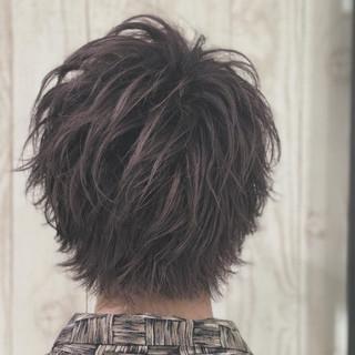 暗髪 グレージュ 透明感 ピンク ヘアスタイルや髪型の写真・画像
