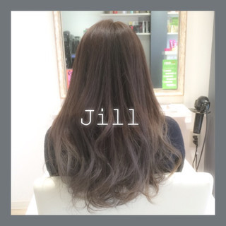 グレージュ グラデーションカラー ロング ナチュラル ヘアスタイルや髪型の写真・画像 ヘアスタイルや髪型の写真・画像