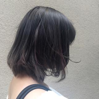 グレージュ ピンク ナチュラル ボブ ヘアスタイルや髪型の写真・画像