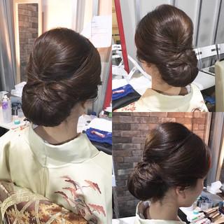 ヘアアレンジ セミロング 和装 アップスタイル ヘアスタイルや髪型の写真・画像