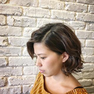 上品 ウェットヘア 切りっぱなし ボブ ヘアスタイルや髪型の写真・画像 ヘアスタイルや髪型の写真・画像