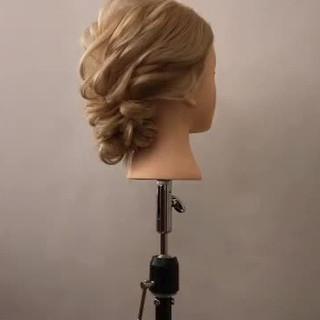 簡単ヘアアレンジ 結婚式 ロング デート ヘアスタイルや髪型の写真・画像