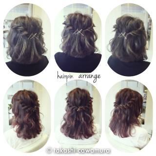 ツイスト 簡単ヘアアレンジ 二次会 ヘアアレンジ ヘアスタイルや髪型の写真・画像