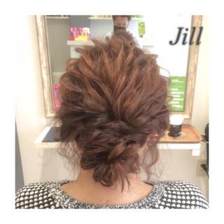 ルーズ ショート 簡単ヘアアレンジ パーティ ヘアスタイルや髪型の写真・画像