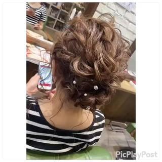 フェミニン 結婚式 デート 成人式 ヘアスタイルや髪型の写真・画像