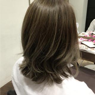 ミディアム ナチュラル ボブ グラデーションカラー ヘアスタイルや髪型の写真・画像