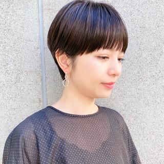 大人ショート 透明感カラー 大人かわいい ナチュラル ヘアスタイルや髪型の写真・画像