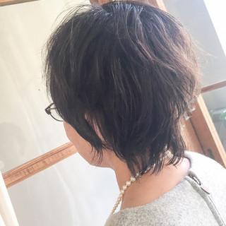 くせ毛風 小顔 40代 エレガンス ヘアスタイルや髪型の写真・画像