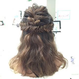 波ウェーブ ヘアアレンジ くるりんぱ ストリート ヘアスタイルや髪型の写真・画像
