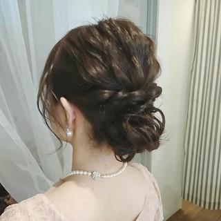 ミディアム デート フェミニン パーティ ヘアスタイルや髪型の写真・画像
