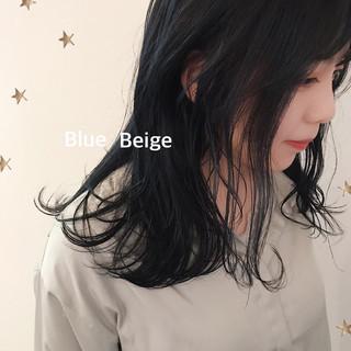 ミディアム ストリート ブルージュ ヘアスタイルや髪型の写真・画像