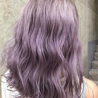 ラベンダー ラベンダーアッシュ ストリート 外国人風カラー ヘアスタイルや髪型の写真・画像