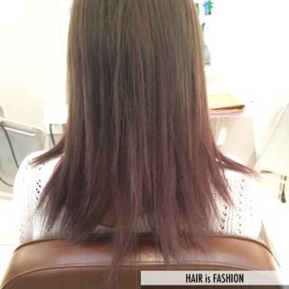 ロング 透明感 ピンク レッド ヘアスタイルや髪型の写真・画像