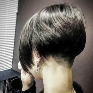 グレージュ ボブ 大人女子 モード ヘアスタイルや髪型の写真・画像