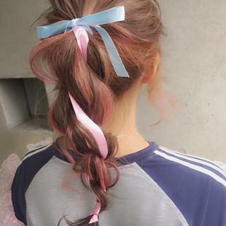 セミロング ハーフアップ 外国人風 ヘアアレンジ ヘアスタイルや髪型の写真・画像