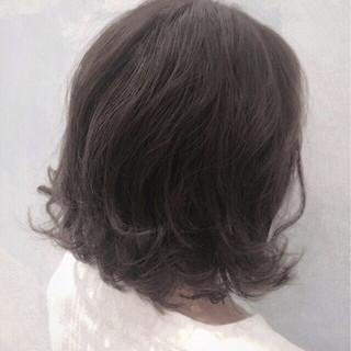 ハイライト ボブ 暗髪 モード ヘアスタイルや髪型の写真・画像