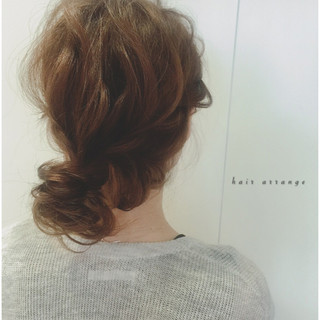 お団子 ラフ ロング ヘアアレンジ ヘアスタイルや髪型の写真・画像