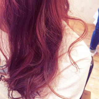 色気 セミロング ピンク かわいい ヘアスタイルや髪型の写真・画像