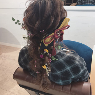 ゆるふわ ナチュラル 結婚式 謝恩会 ヘアスタイルや髪型の写真・画像