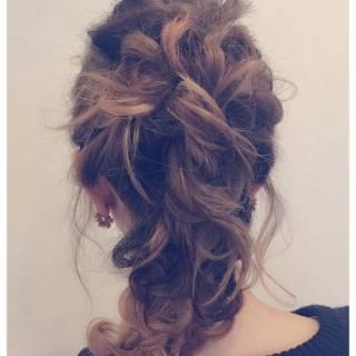 フェミニン ルーズ ヘアアレンジ 簡単ヘアアレンジ ヘアスタイルや髪型の写真・画像 ヘアスタイルや髪型の写真・画像