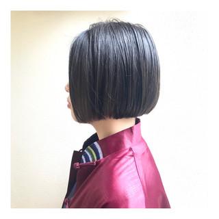 ショートヘア 黒髪 ボブ ショートボブ ヘアスタイルや髪型の写真・画像