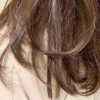 女子力 セミロング 無造作 デート ヘアスタイルや髪型の写真・画像