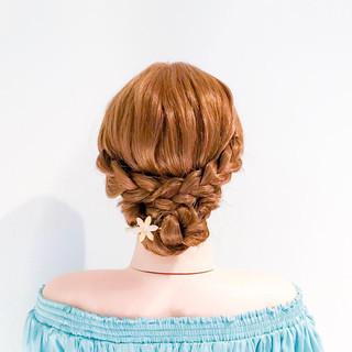 三つ編み 簡単ヘアアレンジ フェミニン ヘアアレンジ ヘアスタイルや髪型の写真・画像 ヘアスタイルや髪型の写真・画像