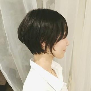 黒髪 ボブ デート ショート ヘアスタイルや髪型の写真・画像