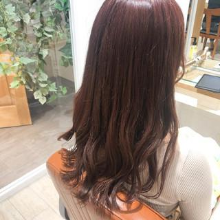 ピンクベージュ ロング ナチュラル ピンクパープル ヘアスタイルや髪型の写真・画像