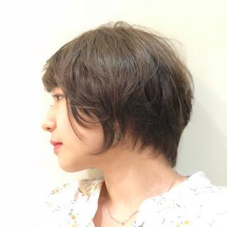 ボブ オフィス 外国人風 ハイライト ヘアスタイルや髪型の写真・画像