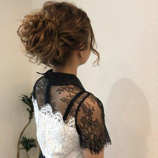 パーティ フェミニン アップスタイル ヘアアレンジ ヘアスタイルや髪型の写真・画像