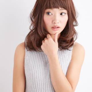 ゆるふわ モテ髪 秋 ミディアム ヘアスタイルや髪型の写真・画像 ヘアスタイルや髪型の写真・画像