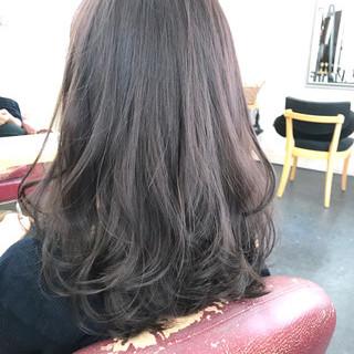 透明感カラー セミロング 透明感 圧倒的透明感 ヘアスタイルや髪型の写真・画像
