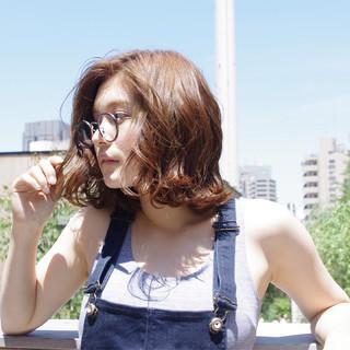 ロブ 抜け感 夏 ボブ ヘアスタイルや髪型の写真・画像